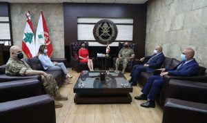 قائد الجيش التقى الممثلة الخاصة للأمين العام للأمم المتحدة