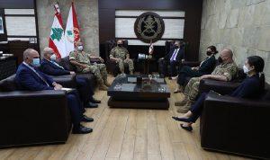 قائد الجيش التقى وسيط التفاوض الأميركي بشأن الترسيم