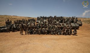 الجيش ينفذ تمرينا تكتيا يحاكي مهاجمة عناصر مسلحة