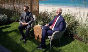 ماكرون: الولايات المتحدة عادت مجددا مع بايدن