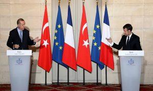مشاكل سوريا وليبيا بين ماكرون وإردوغان