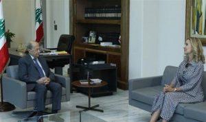 عون استقبل سفيرة سويسرا في زيارة وداعية