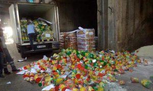 تلف كمية كبيرة من حليب الأطفال بعد انتهاء صلاحيتها! (صور)