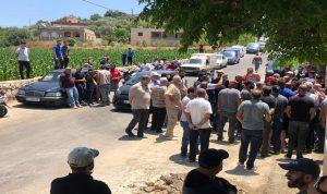 وقفة احتجاجية لأهالي حولا بسبب انقطاع المياه