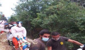 إنقاذ شابين سقطا في وادي ملتقى النهرين في يحشوش