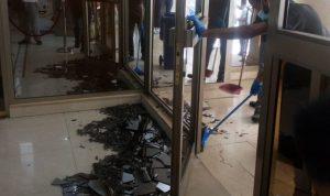 إشكال وتكسير بمستشفى المظلوم في طرابلس (فيديو)