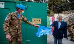 هبة من الكتيبة الايطالية لبلدية تبنين