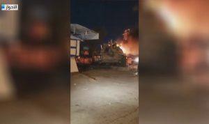 """احتجاجات إيران مستمرة: حرق دبابة لـ""""الحرس الثوري"""" (فيديو)"""