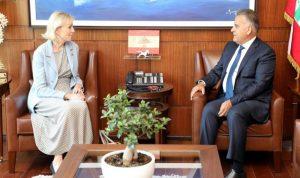 ابراهيم استقبل سفيرة السويد في زيارة تعارفيّة