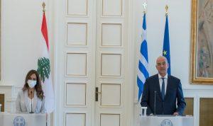 سلسلة لقاءات لعكر في اليونان… هذا ما تم بحثه