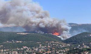 تجدد الحريق في خراج بزال – عكار