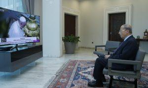 """بالصور: عون يتابع """"يوم التأمل والصلاة من أجل لبنان"""""""