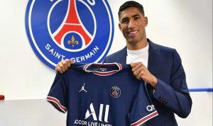 باريس سان جيرمان يتعاقد رسميًا مع حكيمي