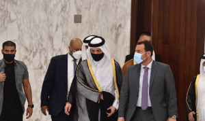 وزير الخارجية القطري التقى عون… وغادر من دون تصريح
