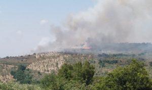 حريق كبير في خراج بلدة بينو العكارية (صور وفيديو)