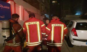 إصابة عنصر من الدفاع المدني جراء حريق في صيدا