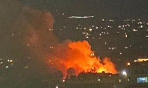 حريق بمخيم للنازحين السوريين نتيجة احتكاك كهربائي