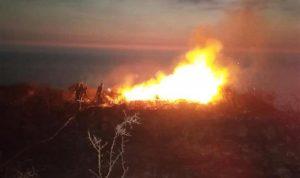 المروحيات الروسية تشارك بإطفاء الحرائق قرب الحدود السورية اللبنانية