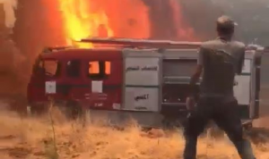 إهماد حريق في المدينة الصناعية بكفررمان