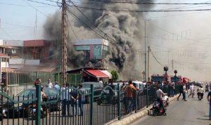 حريق كبير بأحد المحال التجارية في الرحاب (فيديو)