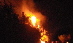 حريق في الموقع السابق لتجميع نفايات مزبود