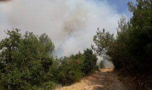إخماد حريق كبير في كفرتبنيت