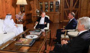 فرنجية التقى السفير القطري مودّعًا