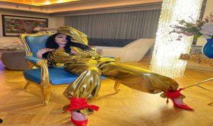 بالصور- اطلالة مشرقة لهيفاء وهبي بالذهبي