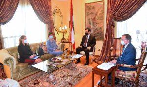 دياب التقى وكيلة الامين العام للامم المتحدة