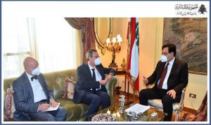 الأوضاع اللبنانية بين دياب ووزير الدولة الألماني