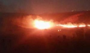قنابل إسرائيلية تشعل حريقًا في لبنان!