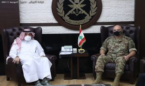 قائد الجيش استقبل السفير القطري