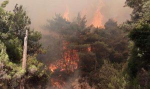 خطار توجه إلى موقع الحريق في القبيات