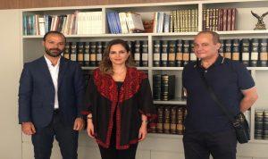"""عبد الصمد استقبلت رئيس تحرير موقع """"لبنان الكبير"""""""