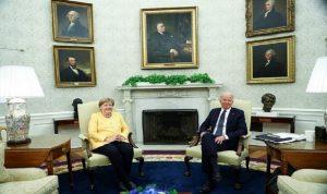 ميركل بالبيت الأبيض في زيارة وداعية