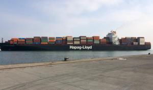 أكبر سفينة حاويات في مرفأ طرابلس منذ إنشائه