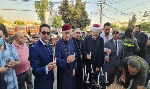 صلوات بمركز الدفاع المدني في زحلة بذكرى 4 آب