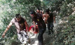 إنقاذ مواطنة سقطت في وادي شوان-كسروان