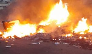 إخماد سلسلة حرائق في اقليم الخروب