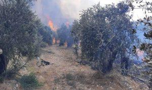 إخماد حريق في خراج بلدتي زكرون وبرغون