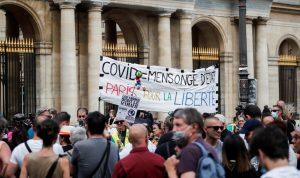 احتجاجات على الإجراءات الصحية في فرنسا