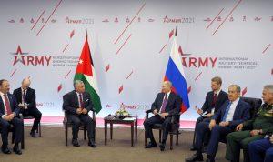 ملك الأردن: روسيا عنصر استقرار في الشرق الأوسط