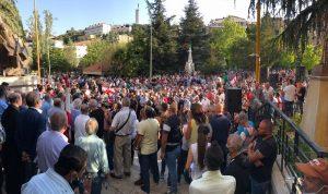 في زحلة… الآلاف اعتصموا ضد سلطة العتمة (فيديو)