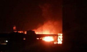 بالفيديو- حريق في محطة محروقات وجهود كثيفة لإخماده