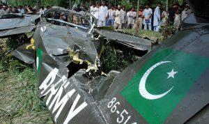 تحطم طائرة تابعة لسلاح الجو الباكستاني