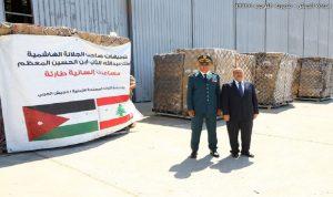 مواد طبية من الأردن للجيش اللبناني