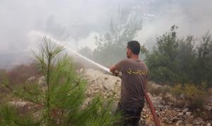 حريق كبير في أحراج رحبة