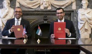 اتفاقية لتعزيز تعاون المناخ بين الإمارات وبريطانيا