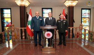 قائد الجيش التقى وزير الدفاع التركي… وهذا ما جرى بحثه