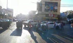 قطع طريق عبرا احتجاجا على نفاد المازوت